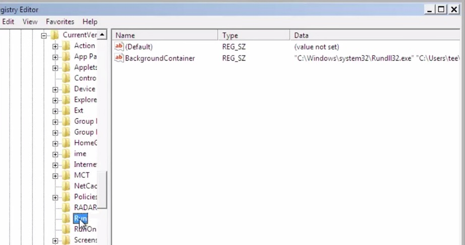 delete backgroundcontainer