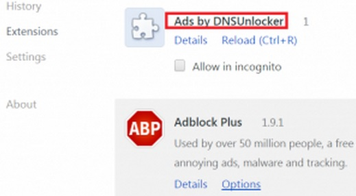 delete dns unlocker chrome