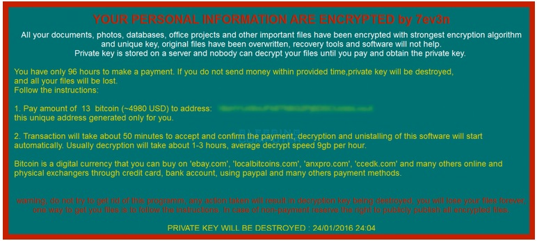 How to Remove 7ev3n Ransomware   Updated