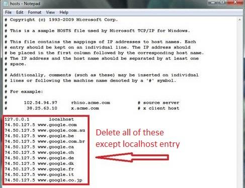 hosts-redirect-virus
