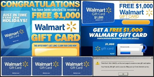 Scam 1000 Walmart Gift Card Winner Pop Up Updated