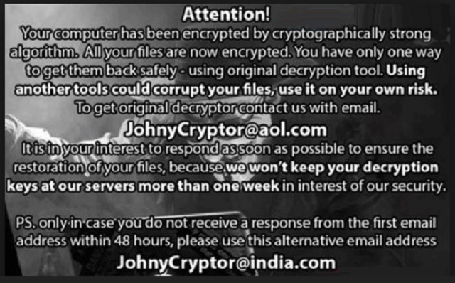 Remove Johnycryptor@hackermail.com Ransomware   Updated