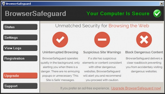 remove BrowserSafeguard
