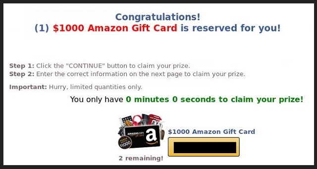 Remove 1000 Amazon Gift Card Is Reserved For You Pop Up Ads Updated