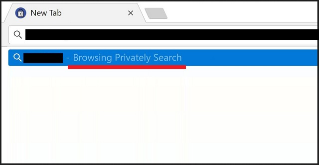 remove Browsing Privately Search