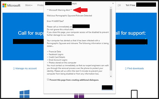 Microsoft Warning Alert Scam Removal | Updated