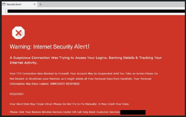 Remove Red Screen Internet Security Alert