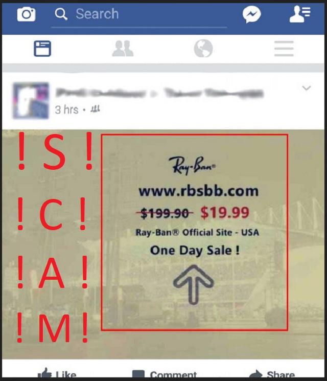 Remove RayBan Facebook Virus