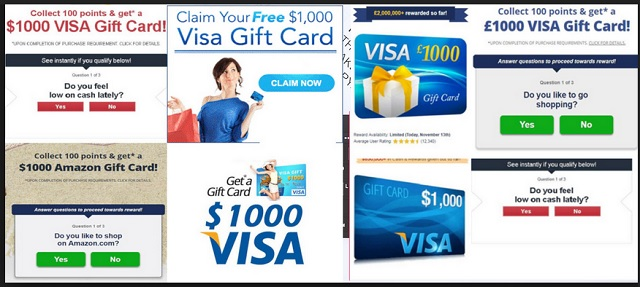 Remove $1000 VISA Gift Card scam