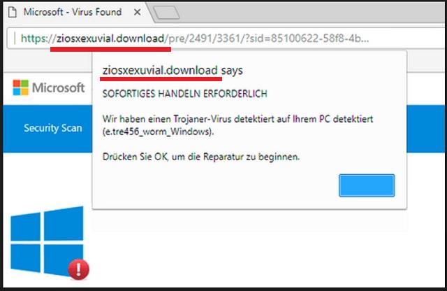 Remove Ziosxexuvial.download