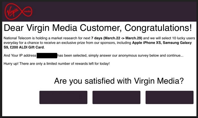 "Remove ""Dear Virgin Media Customer Congratulations"""