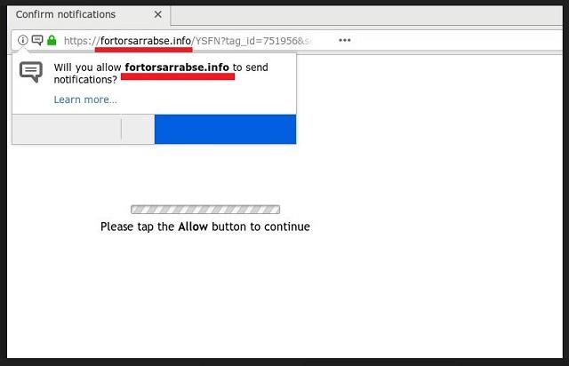 Remove Fortorsarrabse.info