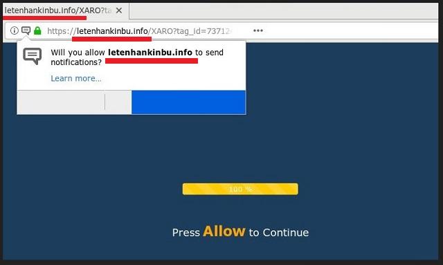 Remove Letenhankinbu.info