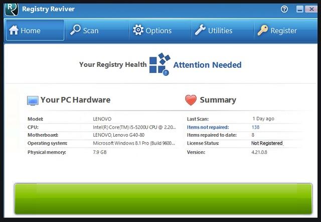 Remove Reviversoft Registry Reviver